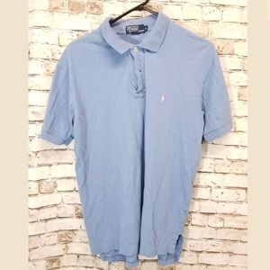 Polo Ralph Lauren medium blue polo shirt